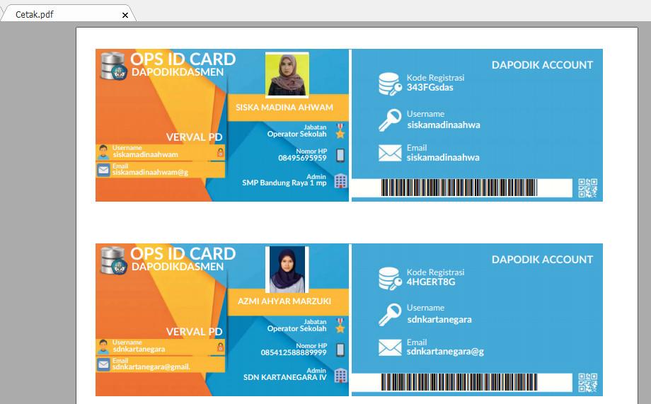 Aplikasi Cetak Kartu Operator Sekolah - OPS ID Card Maker v.1.5 Beta