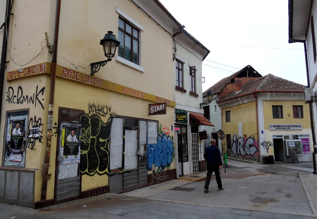 Graffiti in Tuzla Old Town, Bosnia & Herzegovina