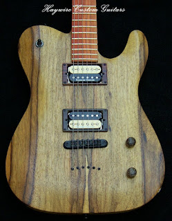 image results for a Guitar Trivia Quiz + solid Korina wood custom shop Telecaster with double coil split humbuckers from the Haywire Custom Guitars custom shop