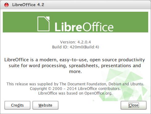Libre Office 4.2.0 Final (Rilis 30 Januari 2014)