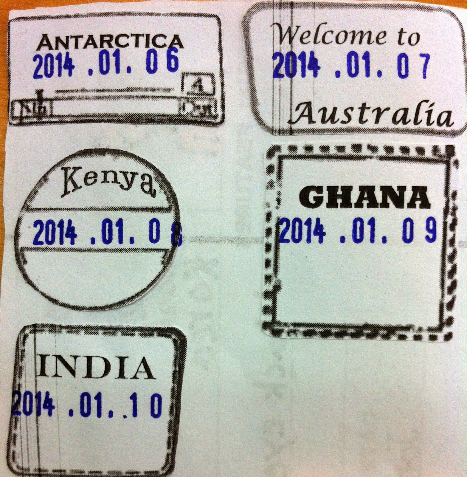 Kid passport stamp