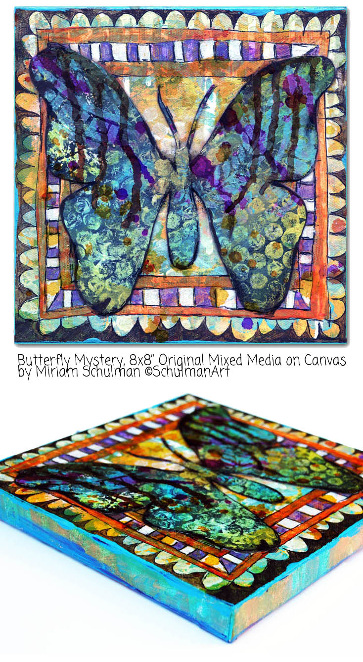 butterfly art is the bad mood cure → http://schulmanart.blogspot.com/2015/07/the-bad-mood-cure.html