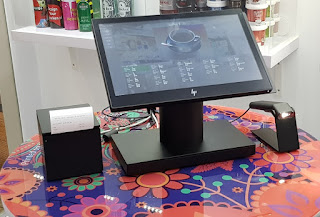The HP ElitePOS.