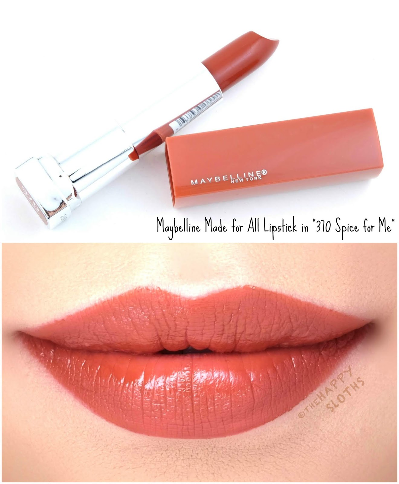 "Maybelline | Made for All Lipstick by Color Sensational ""370 Spice for Me"": Review and Swatches"
