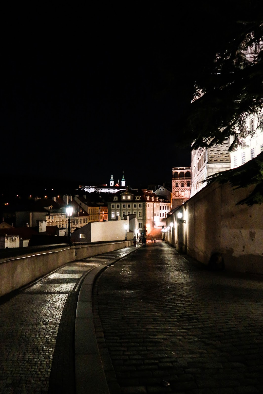 Wandering around Prague at night