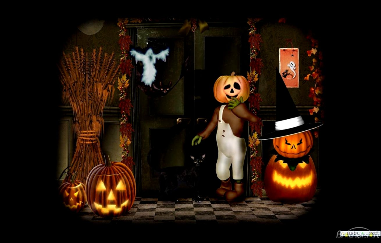 Halloween animated with sound wallpapers free best hd - Scary halloween screensavers animated ...