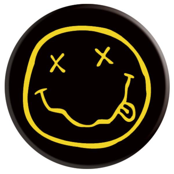 Black Smiley Badge