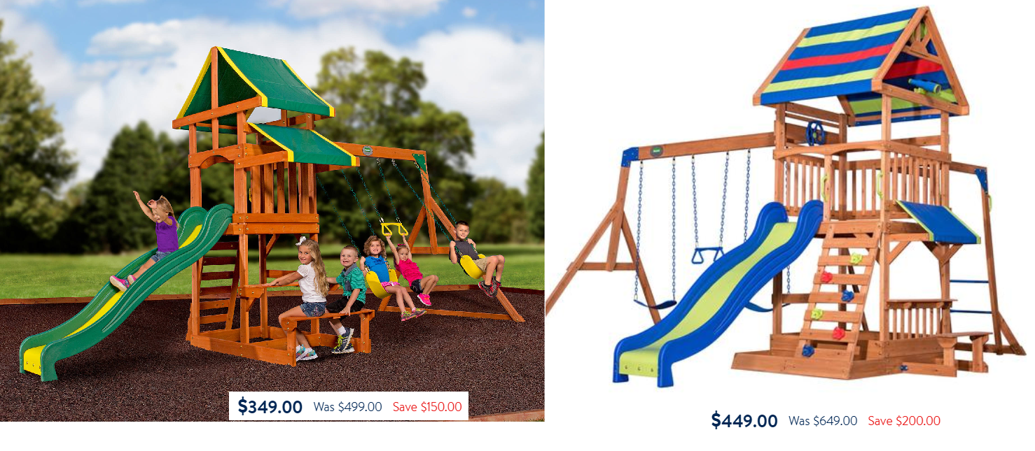 Swing Sets Sale Backyard Discovery Tucson Cedar Wooden