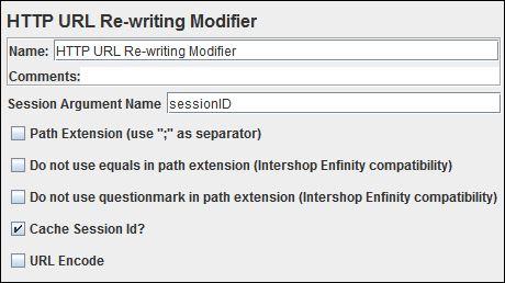 JMeter - HTTP URL Re-writing Modifier