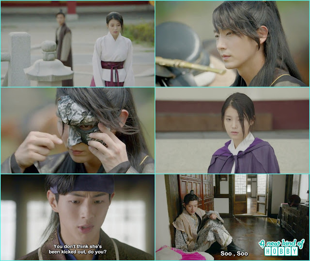 hae soo leave the palace , wang sook came in hae soo and cried a lot while 4th Prince wear a new mask  - Moon Lover Scarlet Heart Ryeo - Episode 12 - Review
