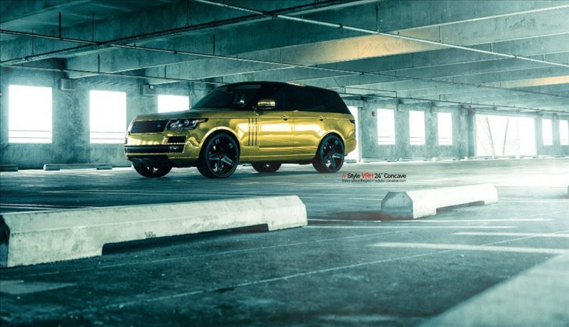 Golden Range Rover By MC Customs 002