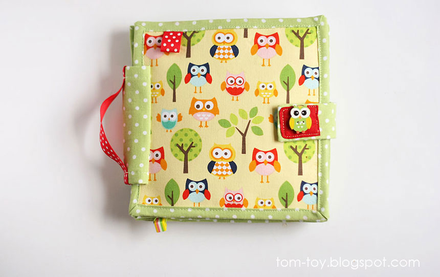 Quiet Book Cover Page Ideas : Tomtoy little quiet book owls