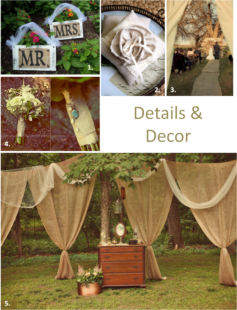 burlap wedding ideas burlap wedding ideas Something Old Something New The Burlap Trend