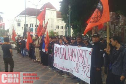 Mahasiswa Gema Pembebasan DI Yogyakarta Tuntut Bubarkan Densus 88