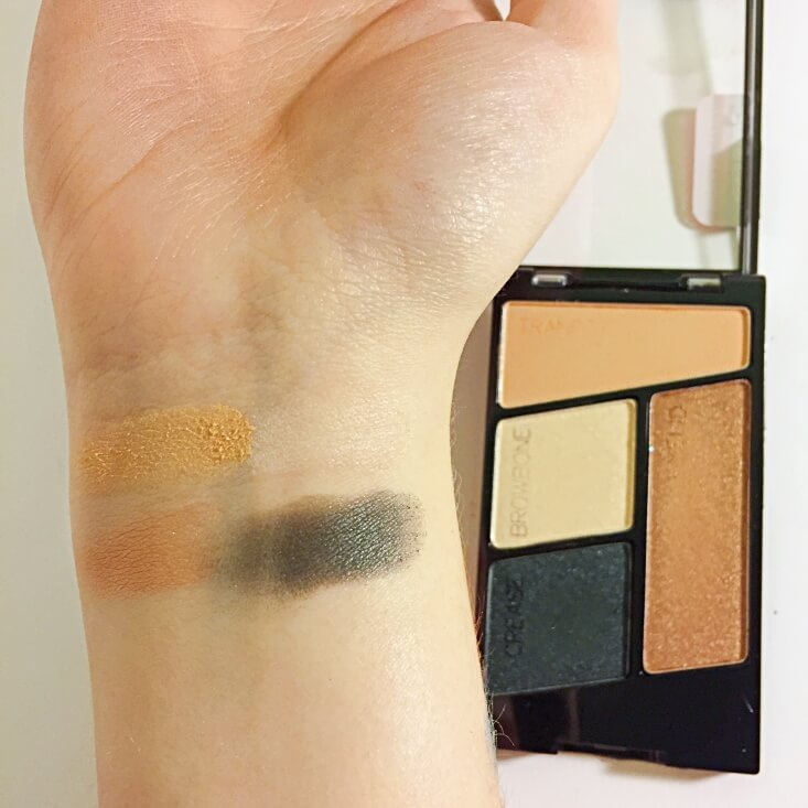 wet n wild coloricon Eyeshadow Quad Hooked on Vinyl swatch