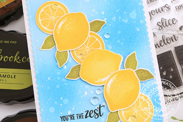 You're the Zest Card by Juliana Michaels featuring Slice of Summer Stamp Set by Sunny Studio Stamps