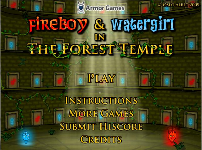 FIREBOY AND WATERGIRL 3: FOREST TEMPLE