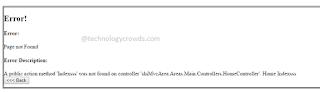 MVC custom error pages
