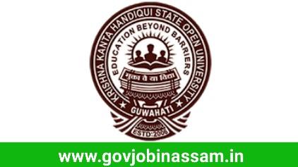 K.K. Handiqui State Open University Recruitment 2018