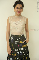 Taapsee Pannu in transparent top at Anando hma theatrical trailer launch ~  Exclusive 105.JPG