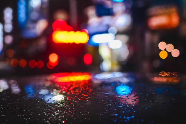 rainy day lights full hd 1080p nature wallpaper