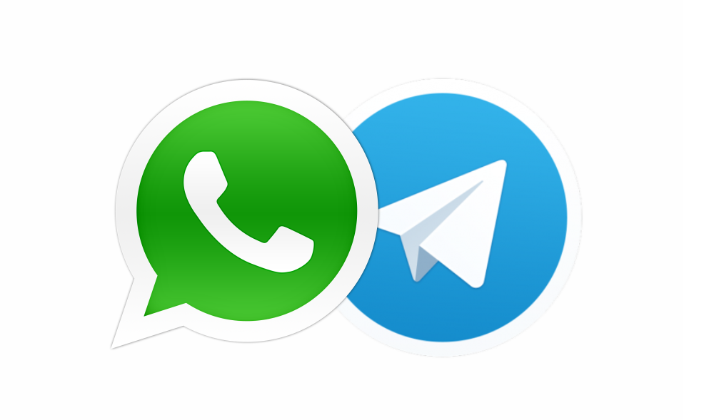 Nos adicione no WhatsApp e Telegram