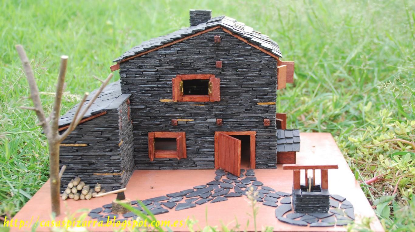 Casas de pizarra paso a paso de la construcci n de la for Construccion de casas paso a paso