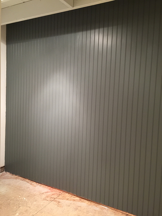 New Laundry Rom: Beadboard wall, Paint & Lighting