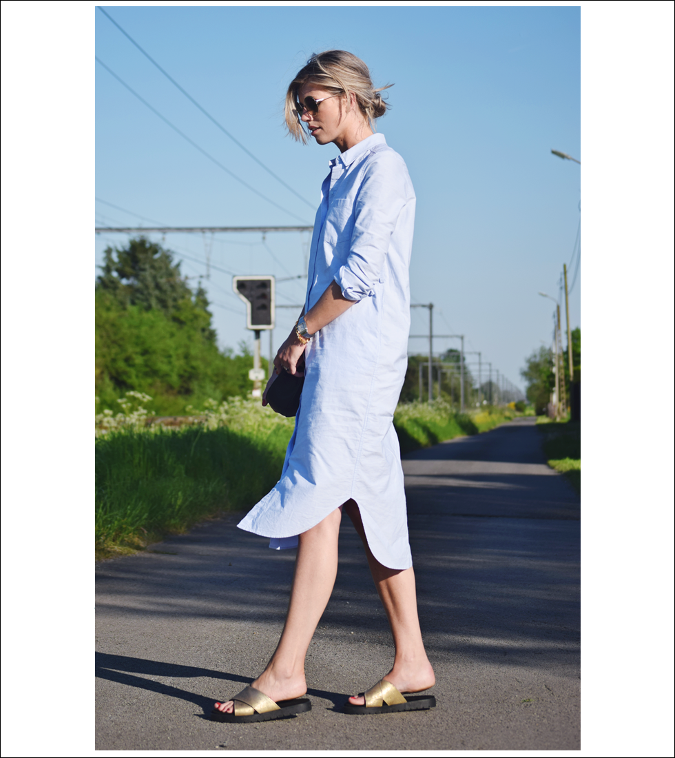 Outfit of the day, COS, Chloé, Shabbies, Cartier, Souvenirs de Pomme, Minitials, style, fashion, blogger, look, shirt dress, Drew bag