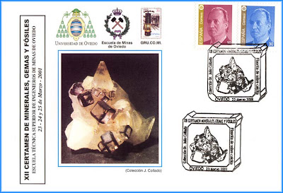 Tarjeta con matasellos de La Fluorita, Grucomi, Oviedo 2001