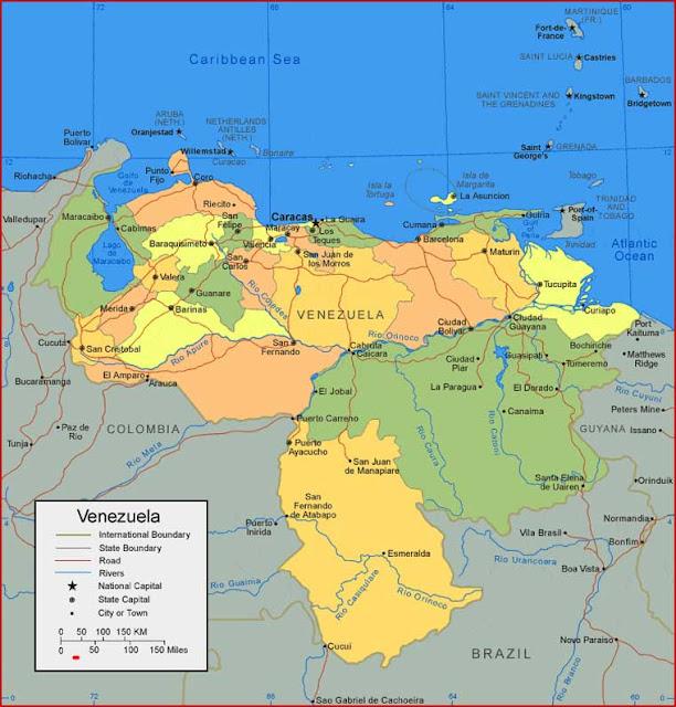 Gambar Peta Venezuela