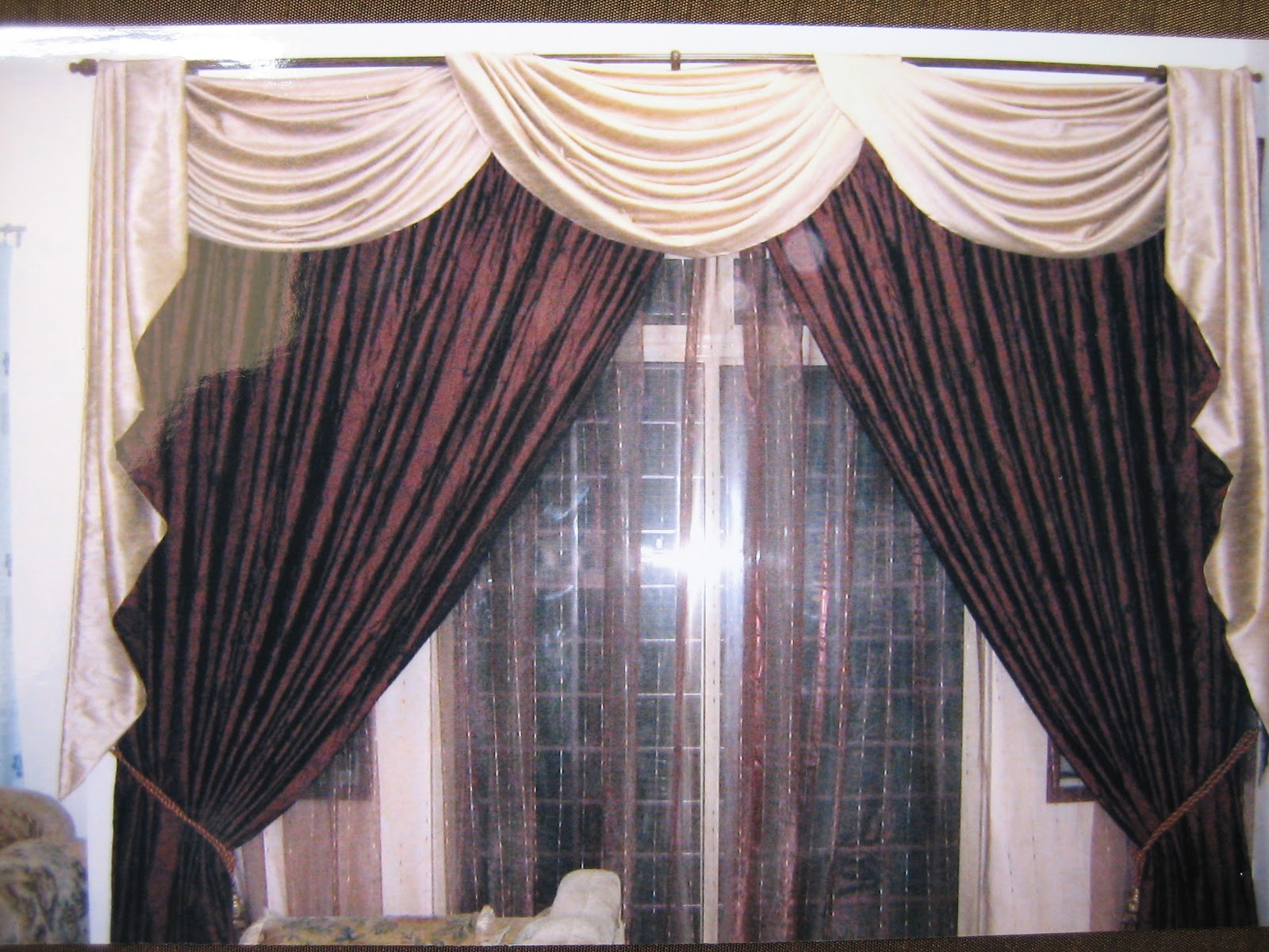 V S Tailoring Amp Curtain Shop Scallop With Rod Amp Curtain