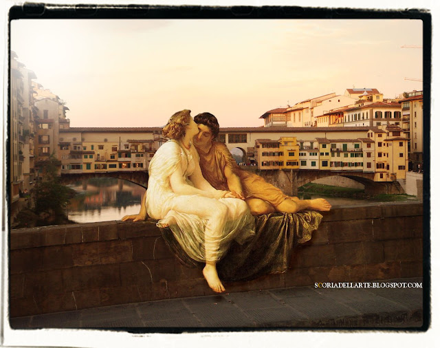 fotomontaggi artistici-Acme e Settimio-Frederic Leighton-Ponte Vecchio