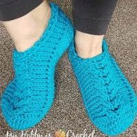 chic cable slippers