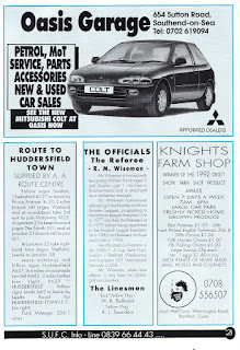 Oasis Garage, Southend-on-Sea Colt 1993 advert