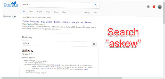 Askew Google Tricks