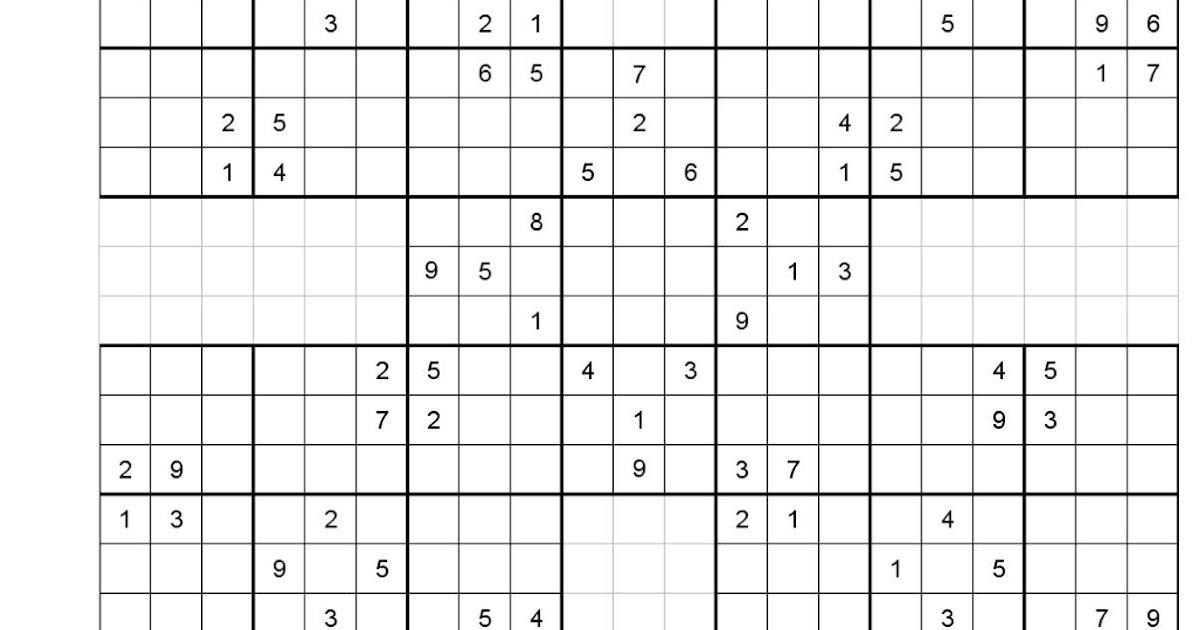 Printable Grid For Sudoku Download Them Or Printebook online 216