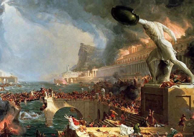 Grande incêndio de Roma no ano 64, Thomas Cole (1801 – 1848)