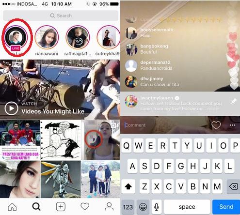fitur live instagram