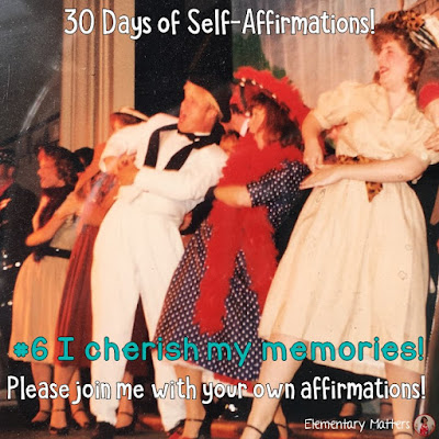 "30 Days of Self-Affirmations: Day 6: I cherish my memories! For 30 days, I will be celebrating my own ""new year"" with self-affirmations. If you are interested in joining me, feel free to  write your own affirmations here, or respond on my social media here: http://bit.ly/2kK7Q1J"