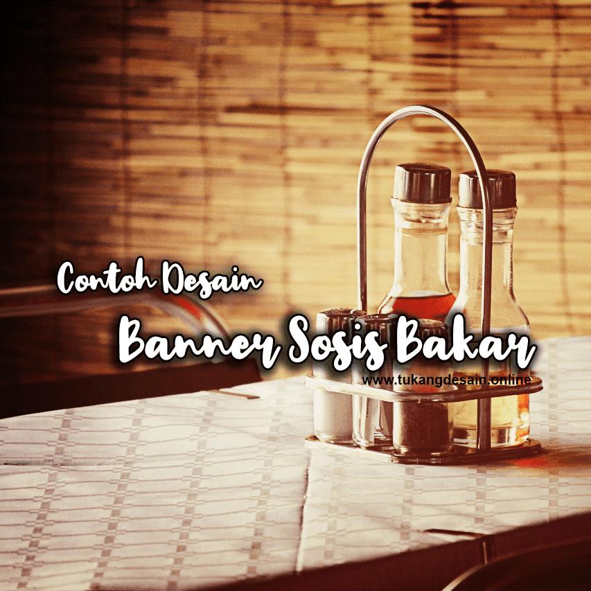 Contoh Desain Banner Sosis Bakar CDR Vektor - Gibazz.Com