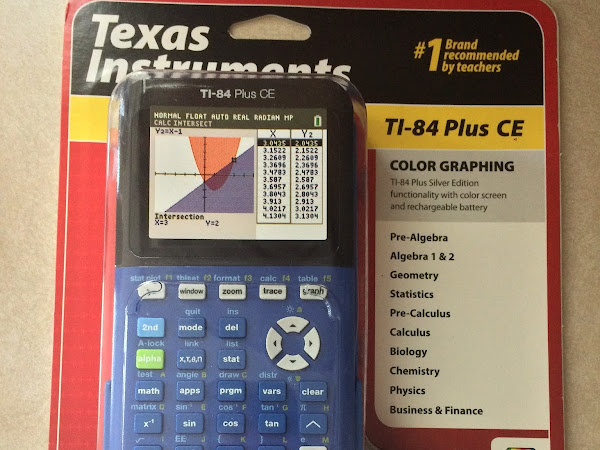 Math is Stylish with the Texas Instruments TI-84 Plus CE  #review #MBPBacktoSchool