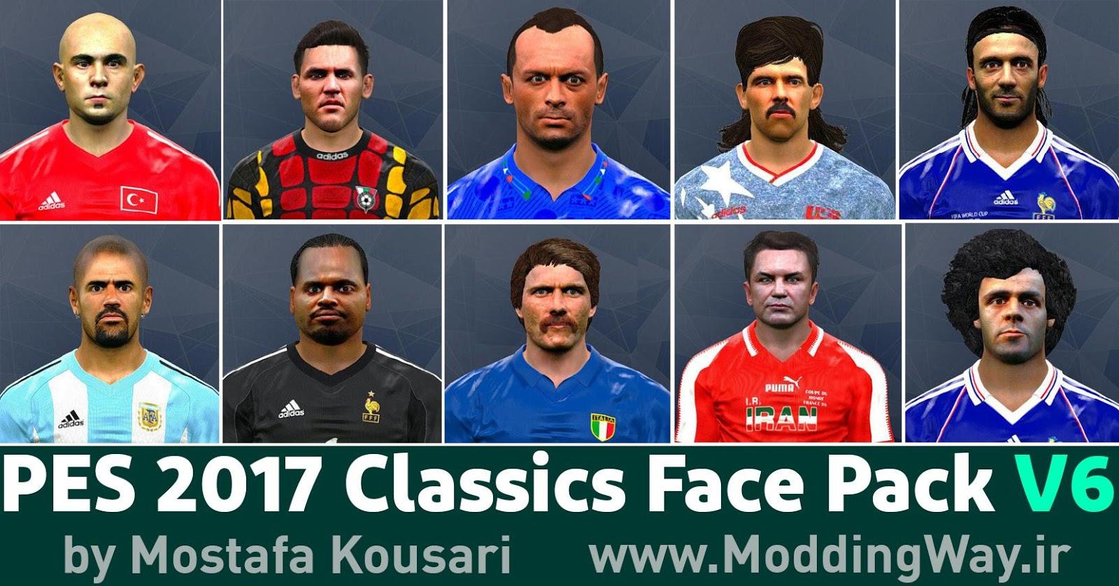 PES 2017 Classics FacePack V6 by Mostafa Kousari