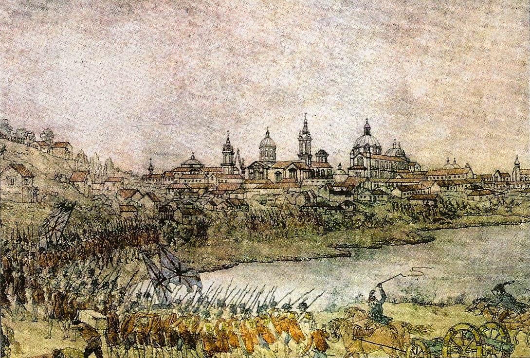 Ataque de los ingleses a Buenos Aires, por José Cardona (Museo Naval de Madrid)