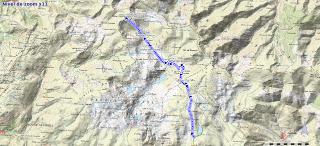 Mapa de la ruta a Peña Trevinca