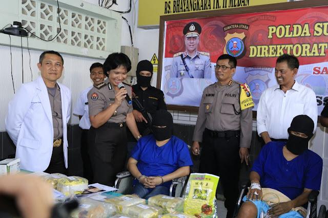 Poldasu Tindak Tegas Pemilik Narkoba 15 kg Jenis Sabu Jaringan Internasional