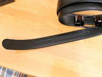 NEWHEY 革メンズベルト おおきいサイズ125cmベルトの内側にストッパー機構