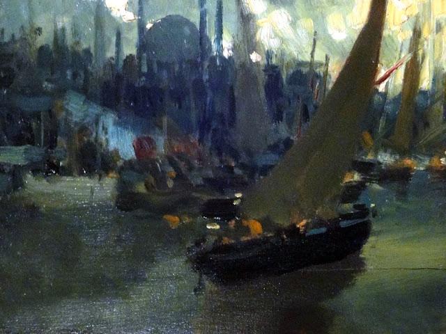 Puerto de Estambul, Enrique Martínez Cubells, Pintor español, Pintores españoles, Martínez Cubells, Paisajes de Enrique Martínez Cubells, Pintores Valencianos