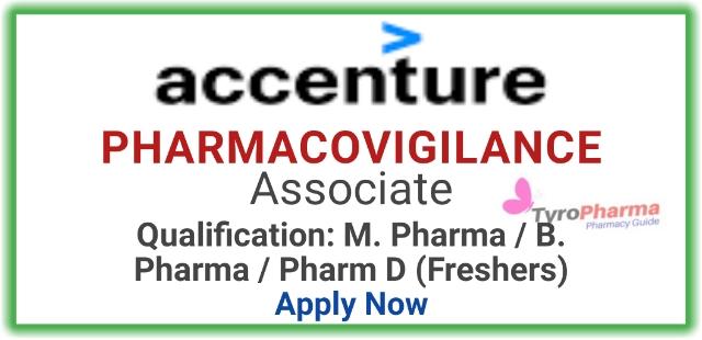 Pharmacovigilance job for Freshers at Accenture