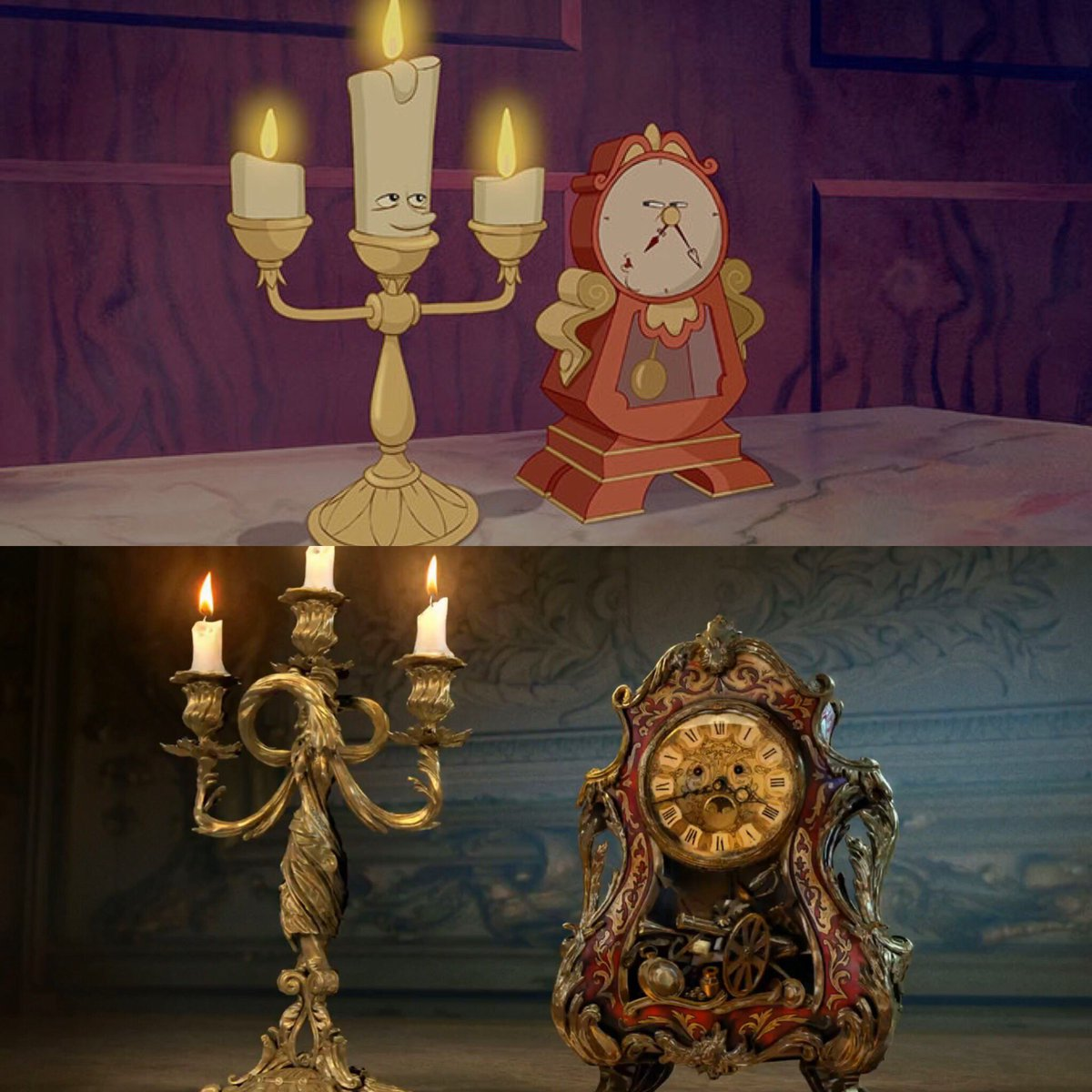At First I Was Thrown Off But Then Realized That Having Giant White Eyes On A Candlestick Would Look Ridiculous In Live Action So Making The Human
